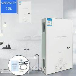 10L Hot Water Heater Tankless Gas LPG Portable Tankless Outdoor Camping Shower