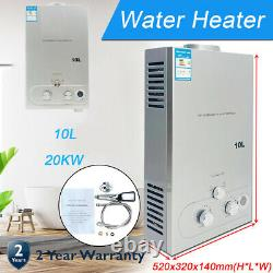 10L Natural Gas Tankless Water Heater On-Demand Portable Instant Indoor Shower
