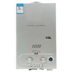 10L Propane Instant Water Heater Gas Tankless Camping Water Heater with Shower Kit