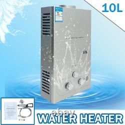 10L Propane LPG Gas Tankless Instant Hot Water Heater Camping Outdoor Shower Kit