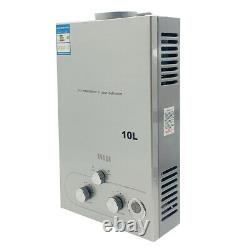 10L Tankless Natural Gas Water Heater with Shower Kit 2.64GPM Instant Water Heat
