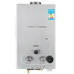 12L GAS LPG Hot Water Heater Propane Tankless Stainless Instant Boiler Stainless