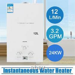 12L LPG Propane Gas Tankless Instant Hot Water Heater Boiler Camping Outdoor RV