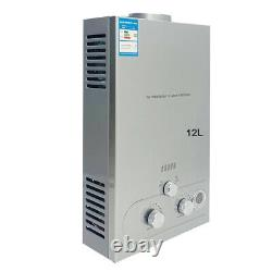 12L Tankless Hot Water Heater Propane Gas LPG 24KW 3.2GPM Instant Water Heater