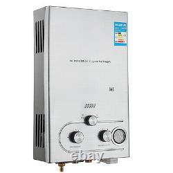 16L Propane Gas LPG Instant Hot Water Heater Tankless Boiler Shower Kit Outdoor