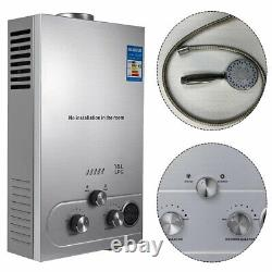 18L 36kw Instant Hot Water Heater Tankless Gas Boiler LPG Propane Stainless UK