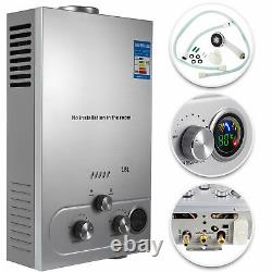 18L LPG Propane Gas Tankless Instant Hot Water Heater Boiler With Shower Kit