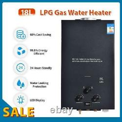 18L LPG Tankless Gas Hot Water Heater Camping Instant Motorhome Water Heater