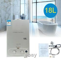 18L Portable Propane Gas Tankless Water Heater 4.8 GPM Outdoor Camping Shower