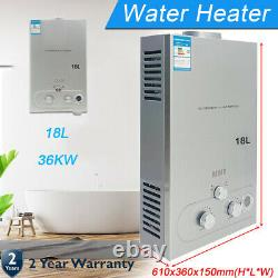 18L Propane Gas Portable Tankless Water Heater 4.8 GPM Outdoor Camping Shower