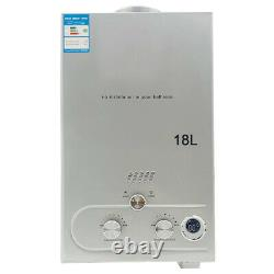 18L Propane LPG Gas Portable Tankless Water Heater White 4.8 GPM Camping Shower