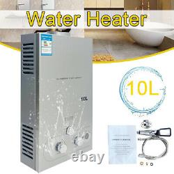 20KW 10L Portable Natural Gas Hot Water Heater Tankless NG Boiler with Shower Kit