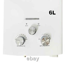 6L Natural Gas Tankless Hot Water Heater Instant Boiler Household with Shower Kit