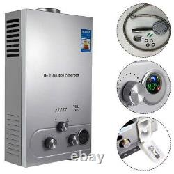 8L/12L/18L Instant Hot Water Heater Tankless LPG Propane Gas Boiler Shower Kit