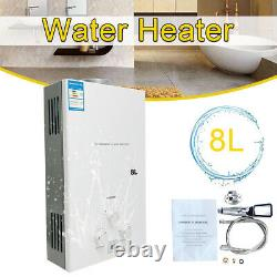 8L 16KW LPG Propane Instant Water Heater Gas Tankless Water Heater with Shower Kit