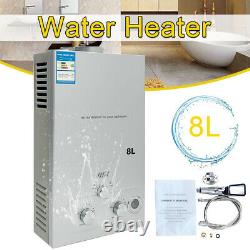 8L LPG Propane Instant Water Heater Gas Tankless Boiler Heater with Shower Kit