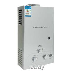 8L Natural Gas Tankless Instant Hot Water Heater Heater Kitchen Shower Bath 16KW