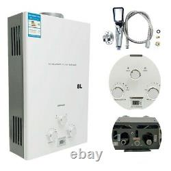 8L Tankless LPG Water Heater Hot Water Heater Portable Instant Boiler Camping UK