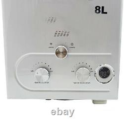 8L/min LPG Propane Gas Tankless Water Heater Instant Hot Water Camping Shower UK