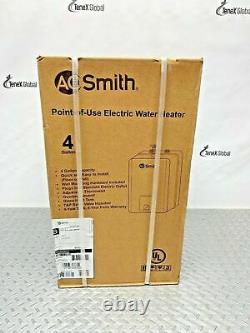 AO Smith POU Instant Electric Water Heater Tankless 4.0 Gal. Model EMT-4.0