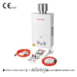 Camplux Hot Water Heater Instant Tankless Gas Boiler 10L 20kw LPG Propane Shower