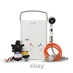 Eccotemp CEL5 Portable Tankless Water Heater withEccoFlo Pump and Strainer, 50mbar