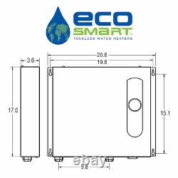 Eco 36 Tankless Electric Water Heater 36 Kw 240 V