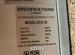 EcoSmart ECO36 36 kW 240V Self-Modulating Electric Tankless Water Heater (40A)