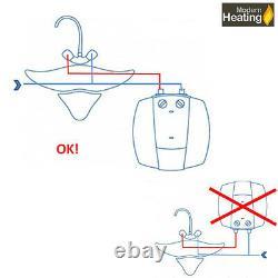 Electric Tankless Instant Hot Water Heater, Under Sink, Bathroom, Kitchen