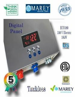 Electric Water Heater Tankless Marey ECO180 Best On Demand 5 GPM 240V