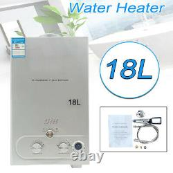 Gas LPG Propane Tankless Instant Water Heater Kettle Camping Shower 18L 4.8GPM