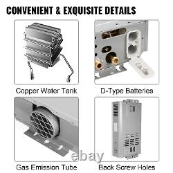 Hot Water Heater Propane Gas LPG Tankless 6/8/10/12/16/18L 4.8GPM Stainless
