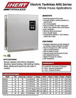 IHeat AHS-11D Electric Tankless Water Heater Whole House Application Drakken