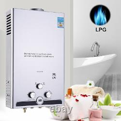 Instant Hot Water Heater 10L 20KW Tankless Gas Boiler LPG Propane LED Display