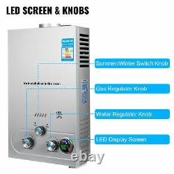 LPG Hot Water Heater 18L Propane Gas Boiler Tankless 36KW with Shower Head Kit