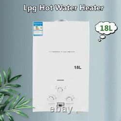 Lpg Hot Water Heater 18L 4.8GP Tankless Propane Gas Camping Shower Water Heater