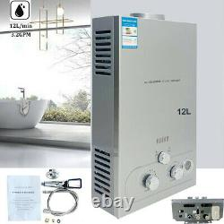 Portable LPG Propane Gas Hot Water Heater 12L Tankless Instant Indoor Outdoor RV