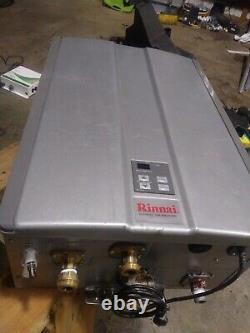 RU160IN 160,000 BTU, Condensing Indoor Tankless Water Heater with Pump Valve