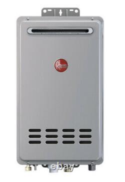 Rheem Tankless Natural Gas Water Heater (RTG-70XLN-1) Outdoor 160,000 BTU 7 GPM