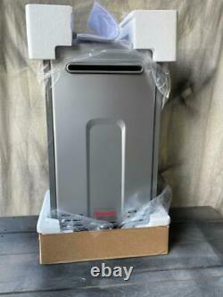 Rinnai Direct Vent Tankless Water Heater Natural Gas Exterior Model # RL75e