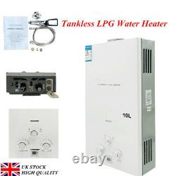 Tankless Hot Water Heater LPG Propane Gas Instant Camping Shower 10L/min