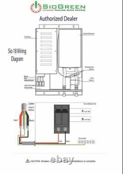 Tankless Water Heater Electric SioGreen SIO18 Best US Seller 5 GPM 220-240 Volt