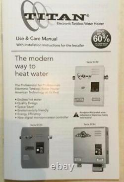 Titan N120 SCR2 Whole House Hot Water Electric Tankless Water Heater Solution