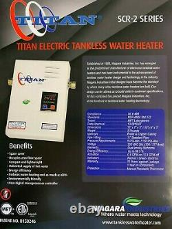 Titan N120 SCR2 Whole House Tankless Water Heater 240V 60HZ 12KW FREE SHIPPING