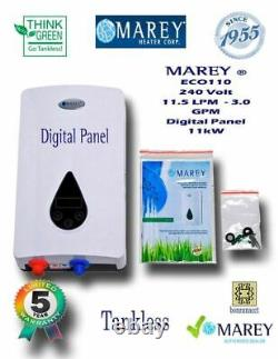Water Heater Electric Tankless Marey ECO110 Refurbished 3 GPM 220V