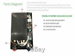 Water Heater Electric Tankless SioGreen Infrared IR260POU 1.5 GPM Best US Seller