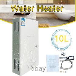 10l 20kw Gpl Propane Chauffe-eau Instantané Gaz Sans Réservoir De Douche Brûleur D'eau