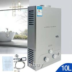 10l Sans Réservoir De Gaz Naturel Chauffe-eau Chaude Instantanée Avec Kit De Douche 2.64gpm