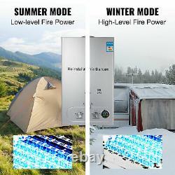 18l 36kw Chauffe-eau Chaude Instantanée Chaudière À Gaz Sans Réservoir Gpl Propane + Kit De Douche