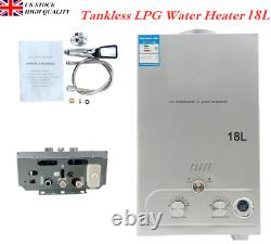 18l/ Min Portable Gas Lpg Propane Tankless Instant Water Camping Shower Kit Royaume-uni